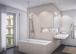 Bad Design Heizung : badewannenaufsatz mit seitenwand duschwand feststehend 1 teilig ~ Michelbontemps.com Haus und Dekorationen