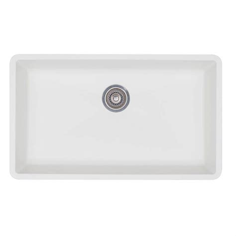 white single bowl kitchen sink blanco precis undermount granite composite 32 in super