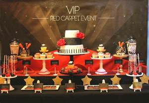 Red Carpet Party Table Ideas