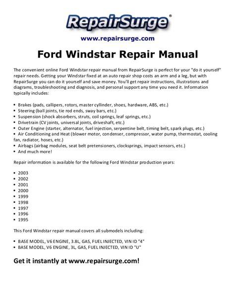 ford windstar repair manual