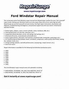 Ford Windstar Repair Manual 1995