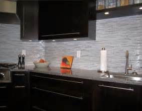 Modern Kitchen Tile Backsplash Ideas Espresso Kitchen With Glass And Marble Mosaic Tile Backsplash Modern Kitchen Vancouver