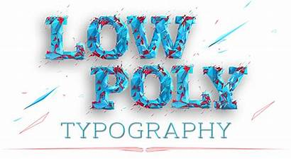 Poly Low Typography Behance Unfollow Following Follow