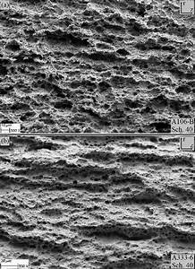 Micrograph Of The Fracture Faces Of  A  A106