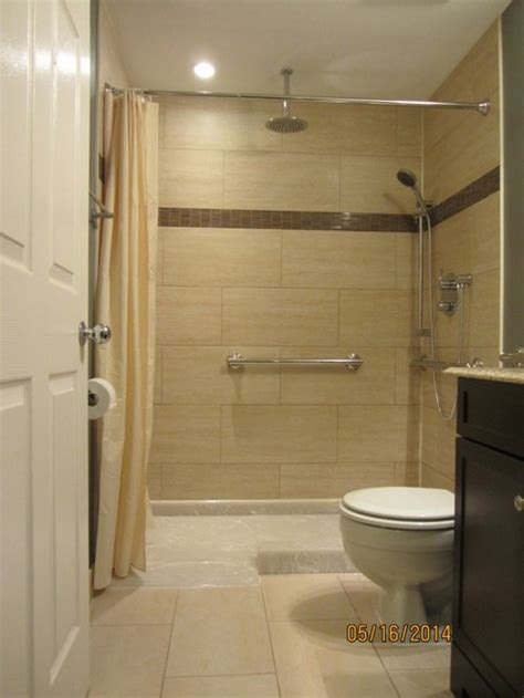 Handicapped Accessible Bathroom Designs by Wheelchair Accessible Shower Houzz