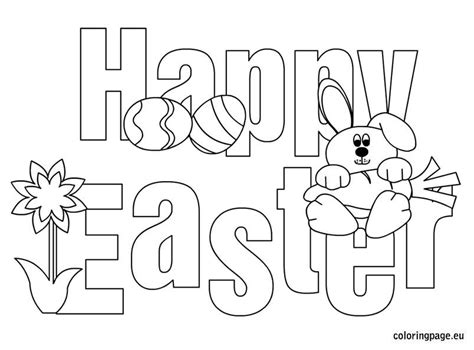 Printable Happy Easter Coloring Pages