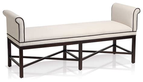 rolled arm bench rolled arm bench contemporary indoor benches