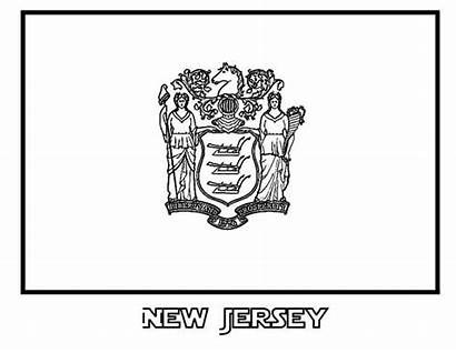 Jersey Flag State Coloring Colorluna