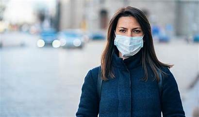 Face Masks Gloves Mask Wearing Woman Hand