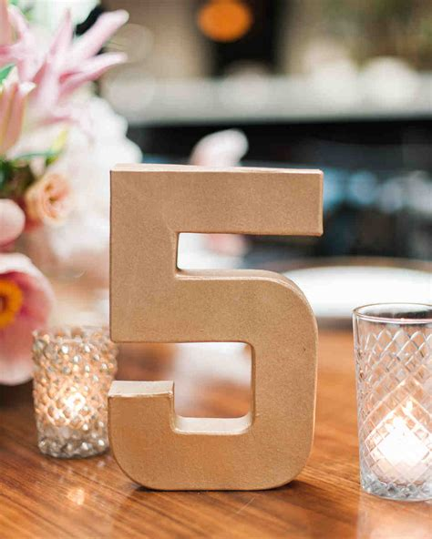 wedding table number ideas wedding table number ideas that scored at real