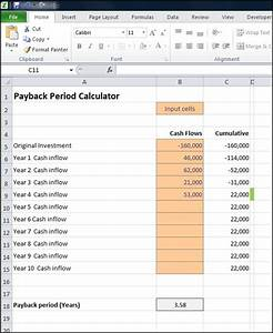 Payback period calculator double entry bookkeeping for Payback period template
