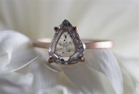 kind natural clear salt pepper diamond ring