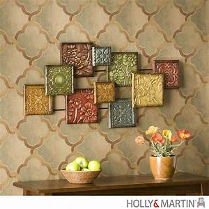 Wall art ideas design artistically decorated italian for Best brand of paint for kitchen cabinets with hanging ceramic wall art