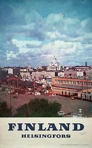 Printed Invoice Original Vintage Poster Finland Helsingfors For Sale At