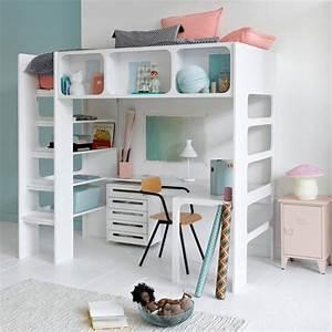 Lit Mezzanine Ado : le lit mezzanine dans la chambre d 39 enfant marie claire ~ Teatrodelosmanantiales.com Idées de Décoration