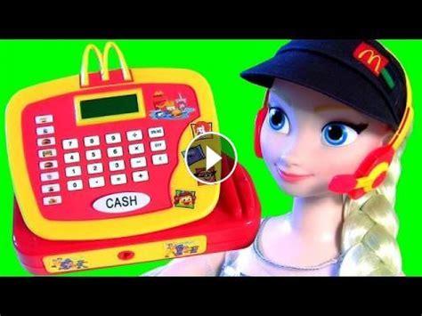 elsa works  mcdonalds pig george peppa pig buys happy