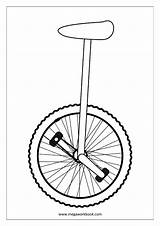 Coloring Unicycle Sheet Sheets Miscellaneous Pages Megaworkbook Template Misc sketch template