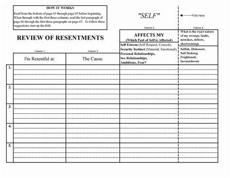 best of na step 4 worksheet goodsnyc