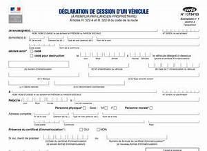 Déclaration D Achat De Véhicule : certificat de cession cerfa 13754 gratuit pour la vente d 39 un v hicule ~ Maxctalentgroup.com Avis de Voitures