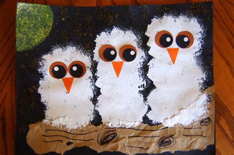 owl preschool craft quot owl babies quot craft i crafty things 429