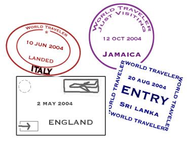 passport stamp template   clip art