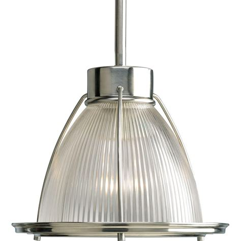 progress lighting brushed nickel 1 light mini pendant