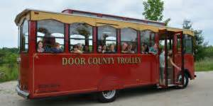 door county trolley traveling trolley tales a visit to the sign with