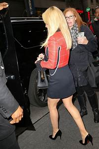 Hayden Panettiere in a Mini Red And Black Dress in NYC 1/5 ...