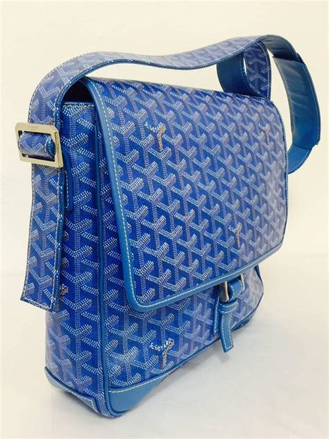 goyard blue goyardine urbain messenger cross body shoulder