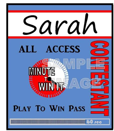 Here is what you get: Minute to Win It Party Supplies, Printables, and ...