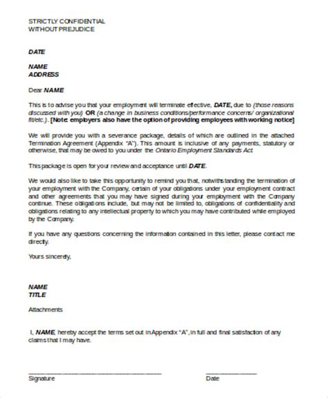 termination  contract letter sample