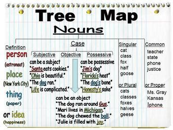 teaching nouns   tree map   conjunction