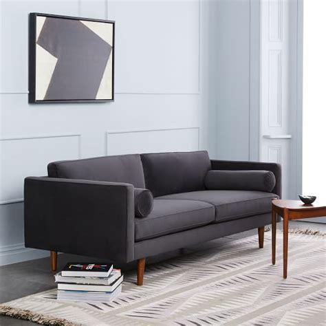 monroe mid century sofa 80 quot west elm