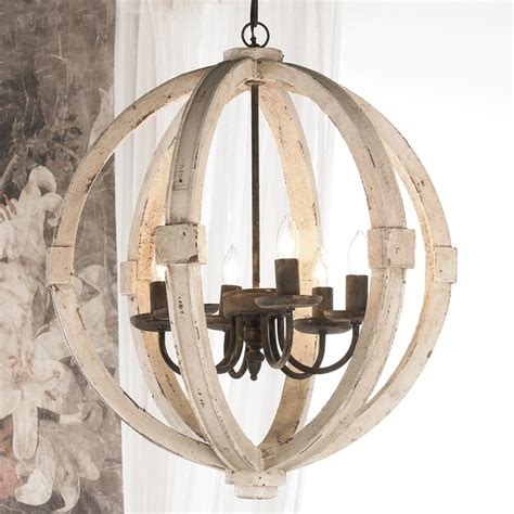 white washed wood sphere chandelier chandeliers by