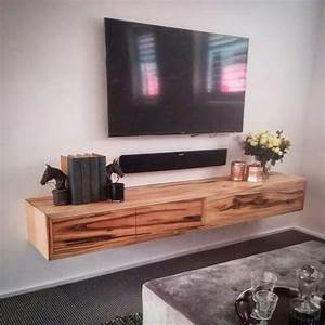 Love The Idea Of A Stand Alone Tv W   Floating Rustic Shelf