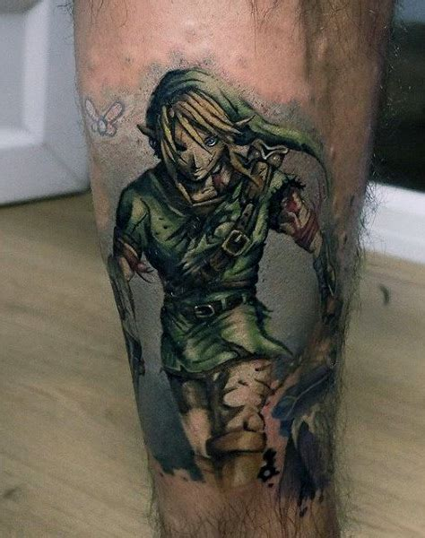 zelda tattoos  men cool gamer ink design ideas