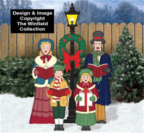 christmas color posters victorian caroling family color