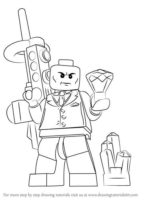 learn   draw lego lex luthor lego step  step