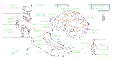 2003 Subaru Outback Wagon Engine Diagram by 2003 Subaru Legacy 2 5l At 4wd Outback Wagon Gasket Tank