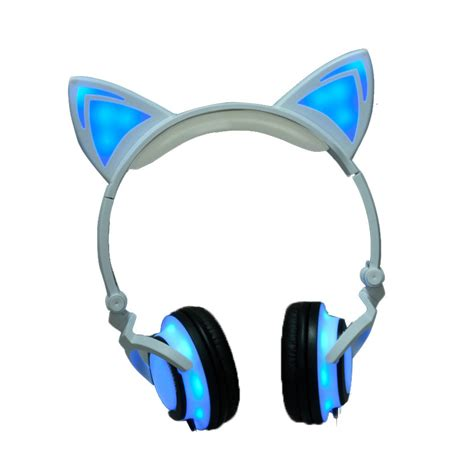 bluetooth bathroom fan with light 2017 cat ear headphones led ear headphone cats earphone
