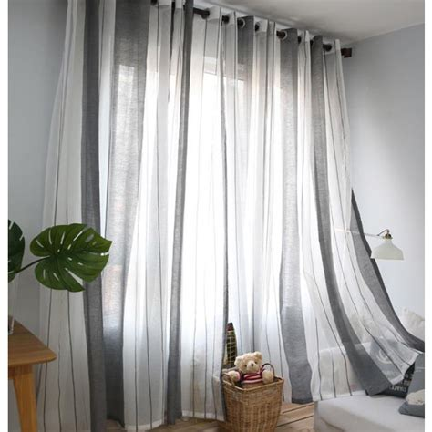 gray and white striped curtains gray and white striped contemporary sheer curtains