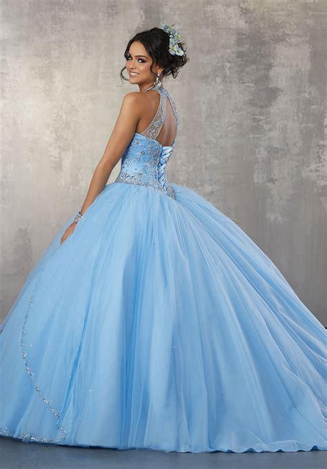 princess tulle ballgown  beaded trim  beaded bodice