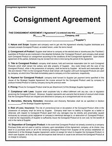 consignment agreement template free microsoft word templates With consignment shop contract template