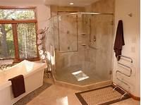 inspiring modern corner shower Ravishing Brown And White Small Bathroom Nuance With ...