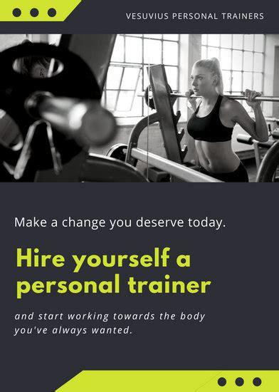 customize  fitness flyer templates  canva