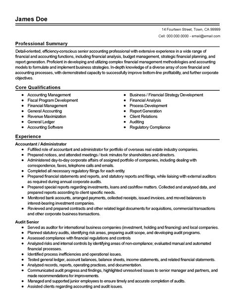 11856 professional accounting resume templates professional accounting administrator templates to