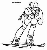 Coloring Pages Skiing Skier Clipart Colouring Supplies Clip 20pages 20supplies 20coloring Template Clipground Sports Printable Slalom Snow Theclipartwizard sketch template