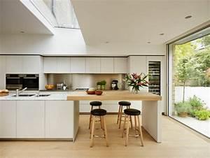 Idee cuisine avec ilot perspective mouvement lumiere for Idee deco cuisine avec cuisine scandinave mobilier