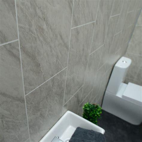 grey marble bathroom wall panels tile effect cladding