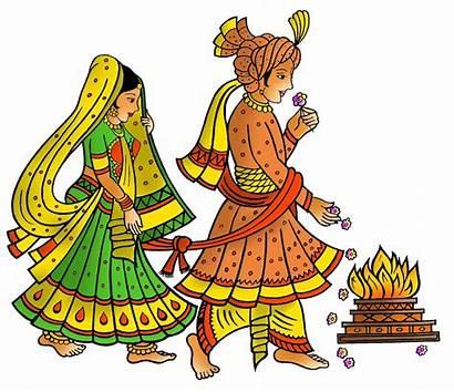 Hindu Clipart Ceremony Patrika Lagna Vivah Indian